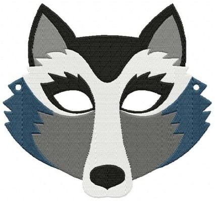 Motifs de broderie machine masque loup